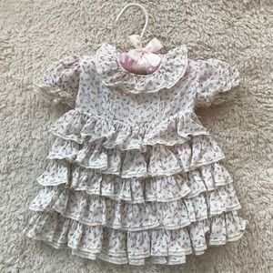 Other - Vintage Ditsy Floral Ruffle Dress w/ Little Hanger